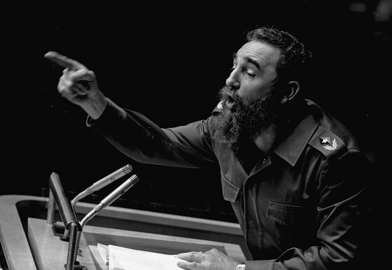 Cuban President, Fidel Castro addresses the United Nations General Assembly in this Oct. 12, 1979 file photo.