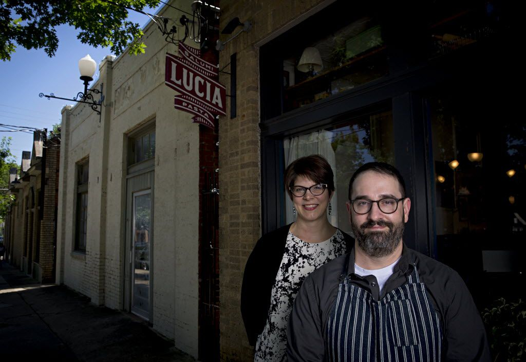 Co-owners Jennifer and David Uygur. He's chef; she runs the dining room.