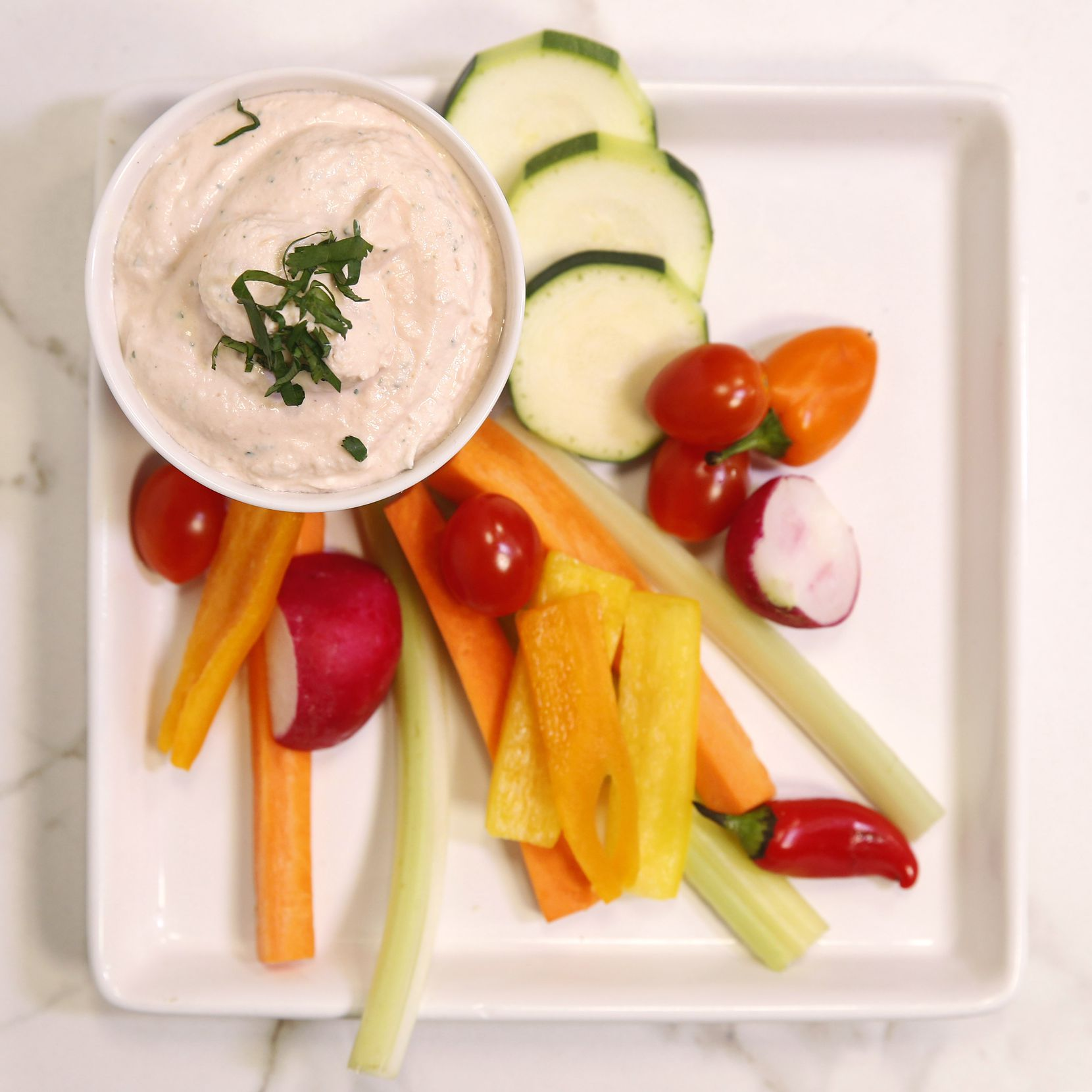 Love Dip is cream cheese-based with tarragon.