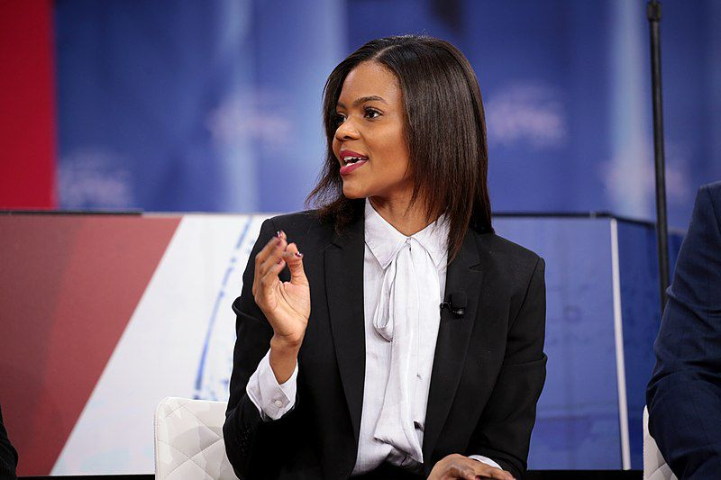 Candace Owens speaking at the 2018 Conservative Political Action Conference (CPAC) in National Harbor, Maryland. (Gage Skidmore/Wikimedia Commons)