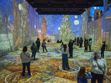 'Immersive Van Gogh' is a walk-through art exhibit intended to let revelers feel like they're inside the Dutch painter's works. It opens in Dallas in August 2021.