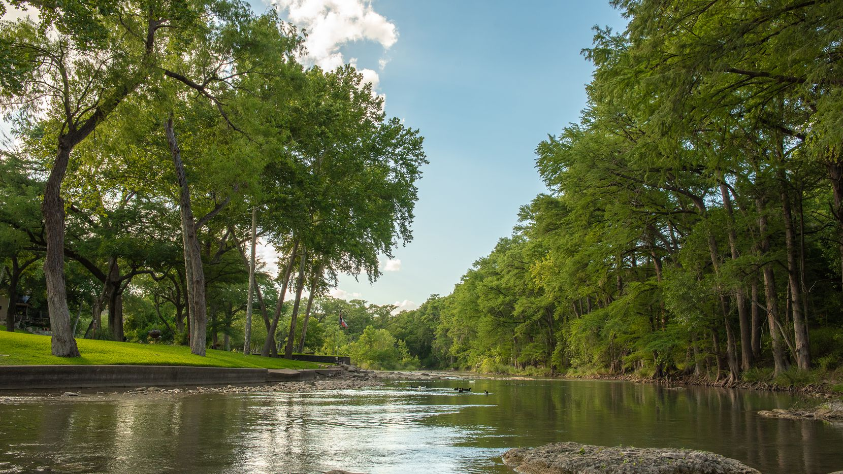 Camp Fimfo is a new RV hookup campground on the shores of the Guadalupe River in New Braunfels, Texas