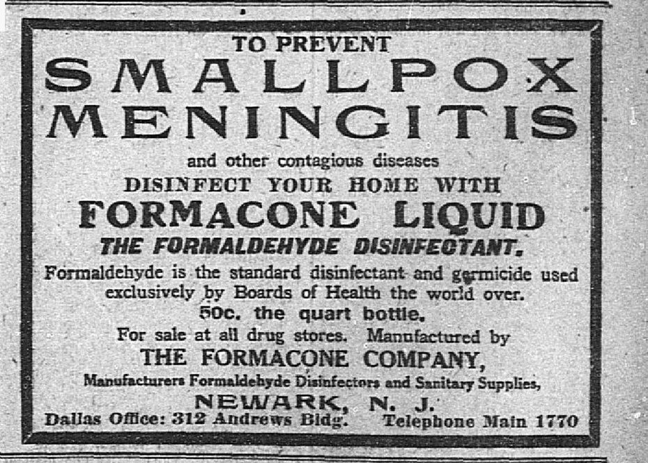Advertisement from May 10, 1912.