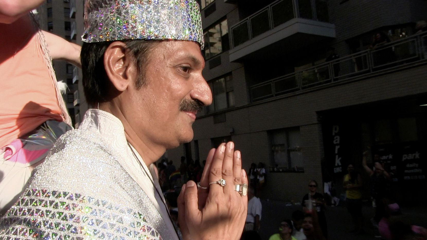 """Prince Manvendra of India is shown at the New York City World Pride Parade. He is profiled in Cheryl Allison's film """"Pieces of Us."""""""