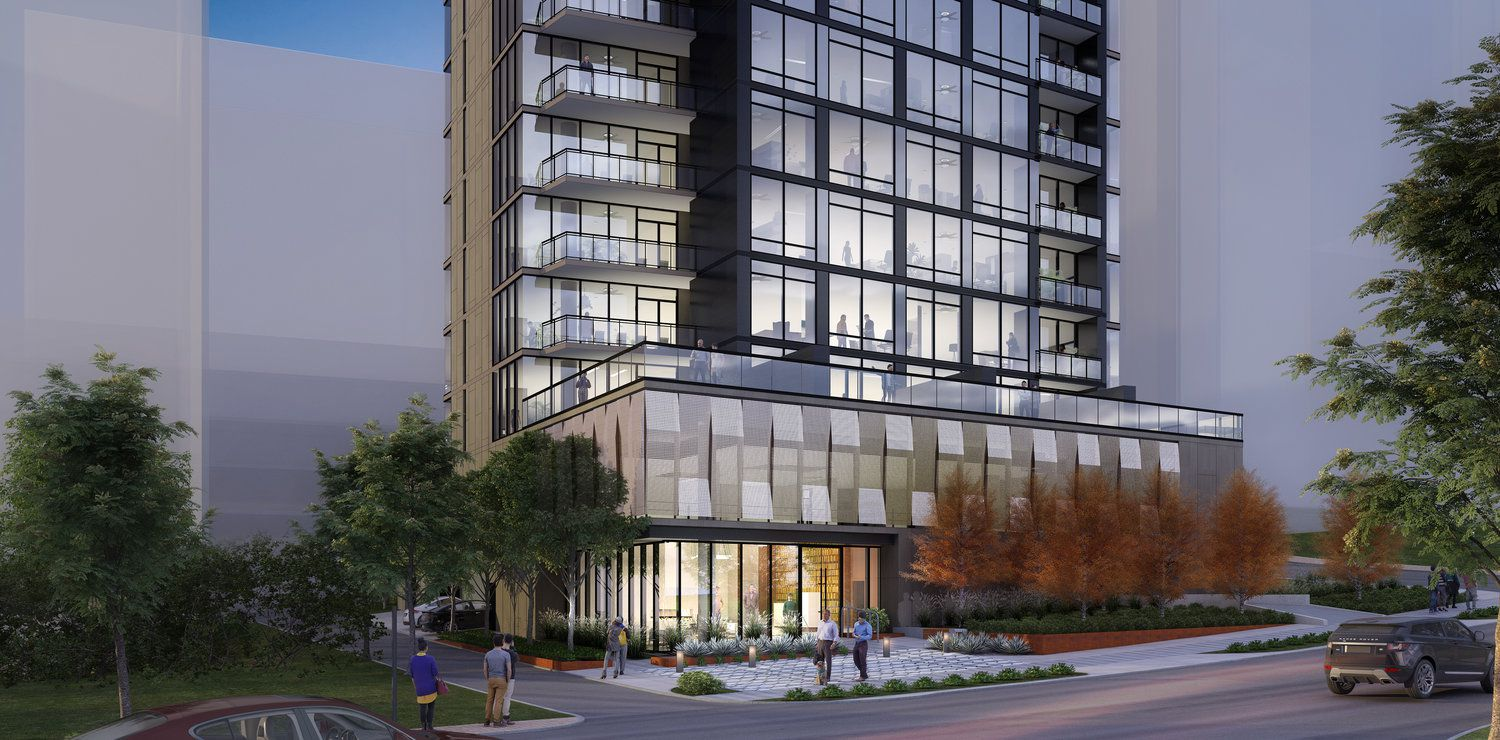 The new residential tower is planned on Hall Street at Turtle Creek Boulevard — just across from Turtle Creek Park.