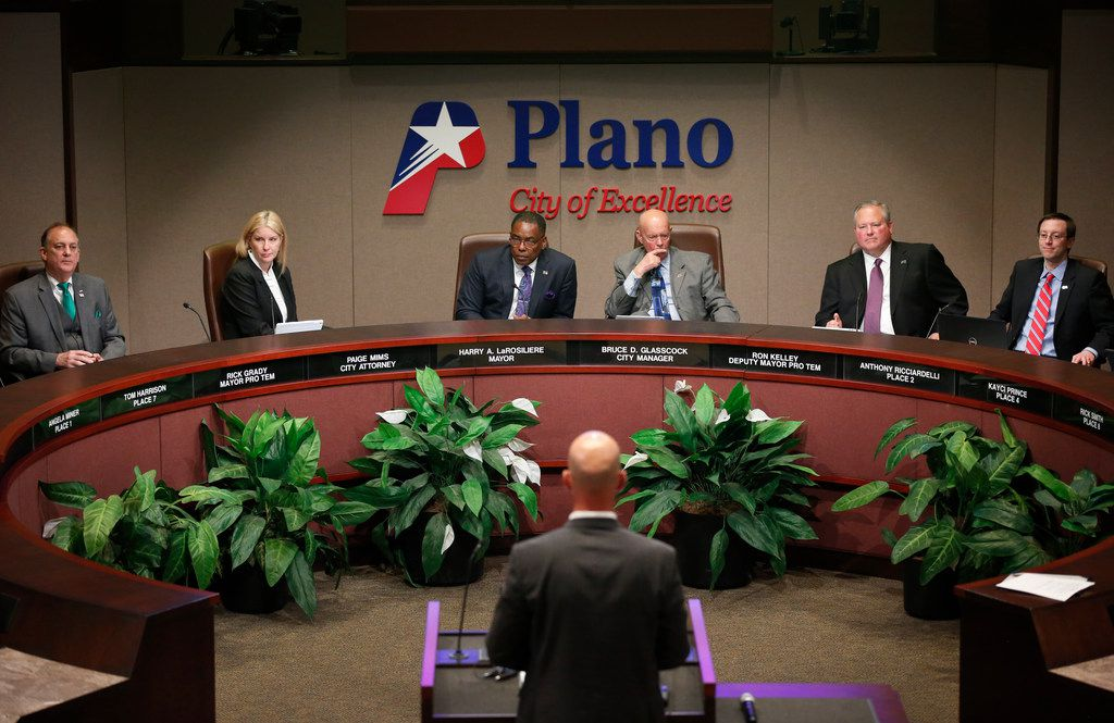 Plano City Council members listened to Billy George, assistant deputy director of the North Texas Municipal Water System, speak during a meeting Tuesday.
