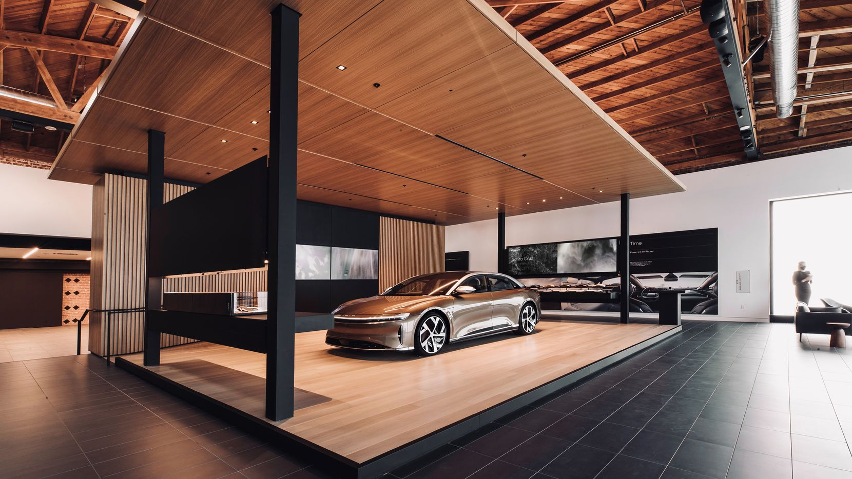 Luxury electric vehicle manufacturer Lucid Motors is exploring opening a showroom for its cars in Plano.