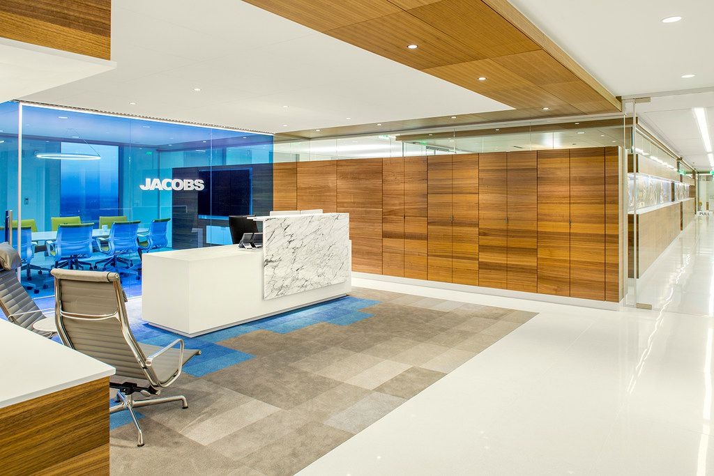 The interior of Jacobs' headquarters in Dallas.