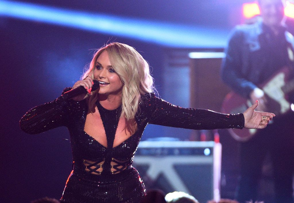 Miranda Lambert performs at the 54th annual Academy of Country Music Awards at the MGM Grand Garden Arena in Las Vegas.
