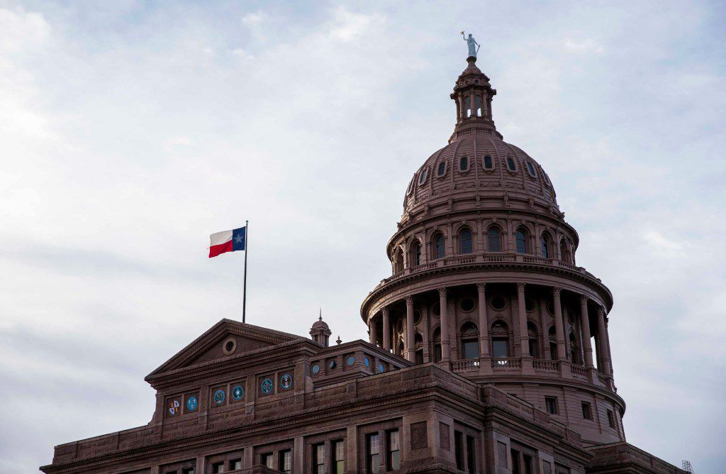 The Texas State Capitol building on the first day of the 85th Texas Legislature.