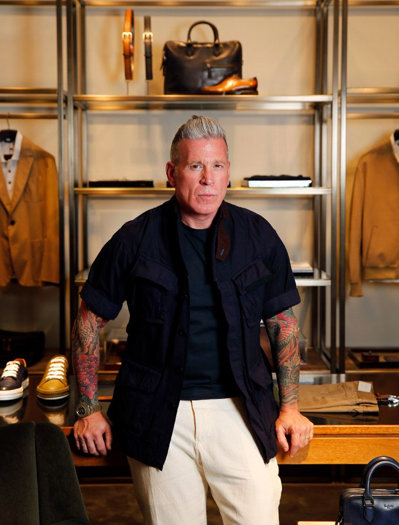Forty Five Ten men's fashion director Nick Wooster photographed at Forty Five Ten on Main in downtown Dallas (Tom Fox/The Dallas Morning News)