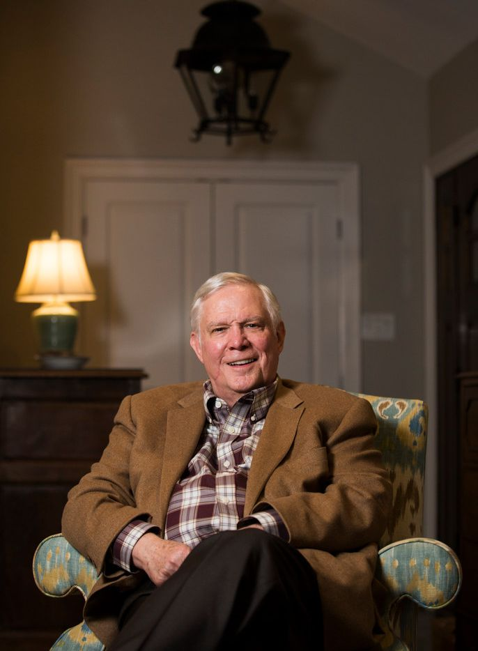 Attorney and civic leader Tom Luce poses for a portrait at his home in Dallas. Luce will be honored with the Linz Award at a luncheon in April.