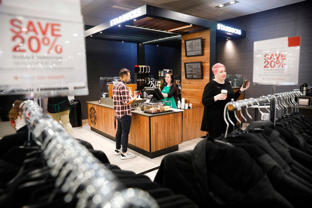 A Starbucks coffee bar is now open on the second floor of the Macy's store at NorthPark Center. The shop is part of the upgrades made to the store.
