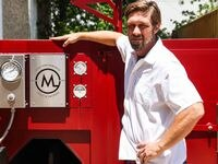 Tim McLaughlin, the pitmaster at coming-soon barbecue joint Crossbuck BBQ, is having two 15-foot smokers made at M Grills in Mesquite.