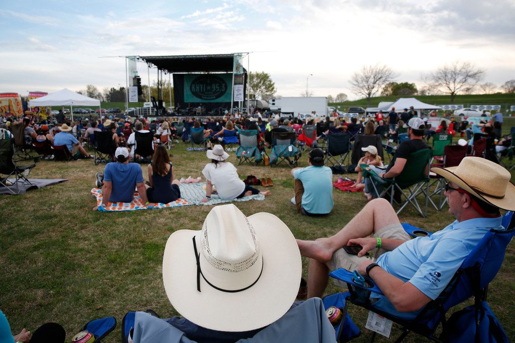 In this 2018 file photo, festival goers listen to live music at the Toyota Texas Music Revolution at Oak Point Park in Plano.