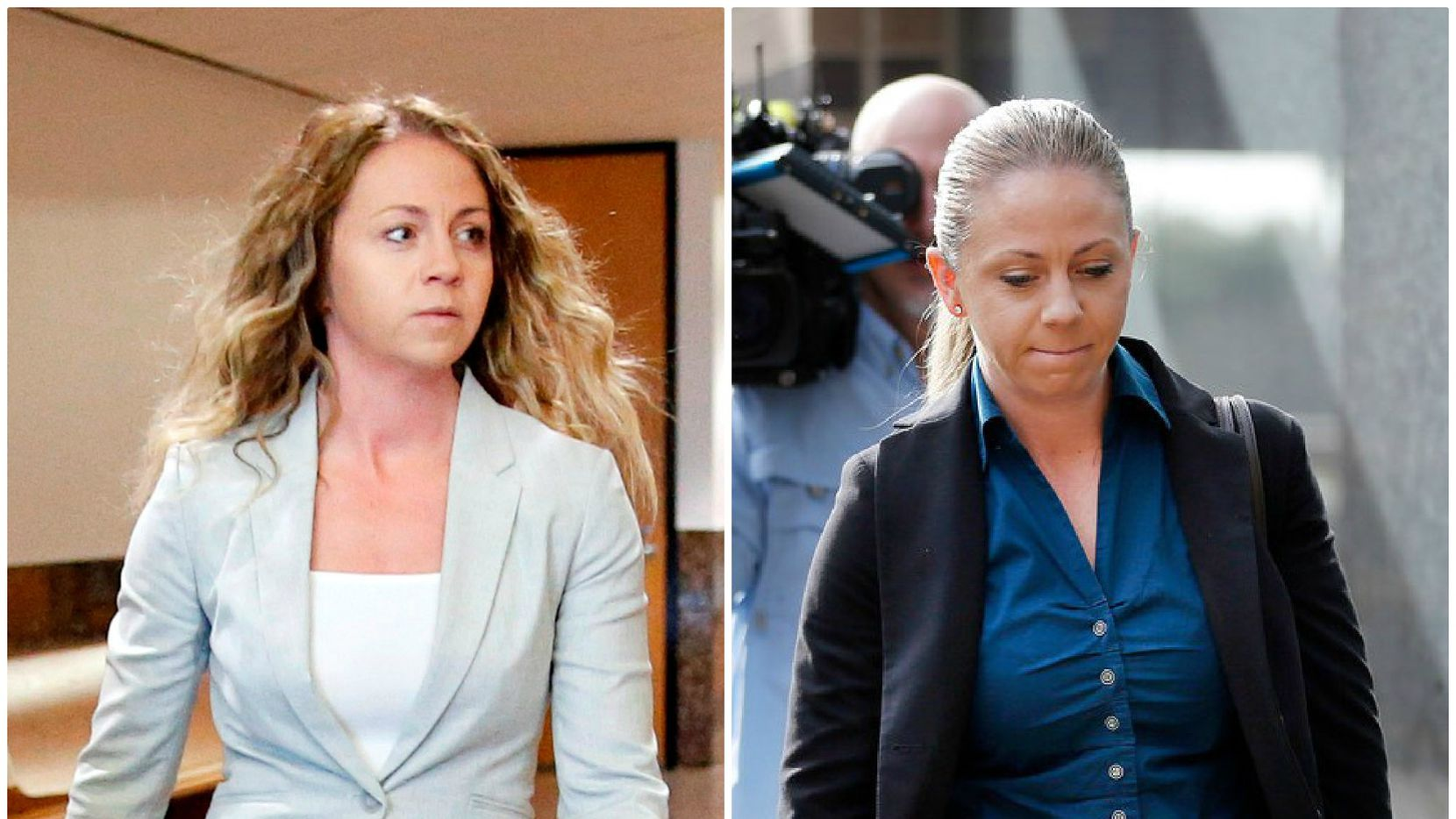 Amber Guyger sported divergent looks on Tuesday (left) and on Jan. 8 at the Frank Crowley Courts Building. Attorneys unaffiliated with the case say the lighter clothes, looser hair and more confident body language are intended to send a message.