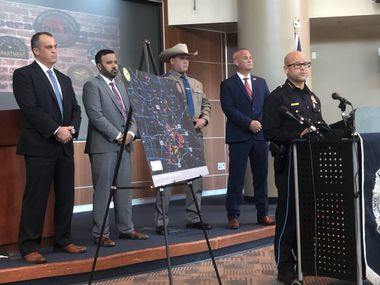 Operation Pegasus was a joint venture between Dallas police, the Texas Department of Public Safety, the Bureau of Alcohol, Tobacco, Firearms and Explosives and the FBI, officials said during a Thursday news conference.