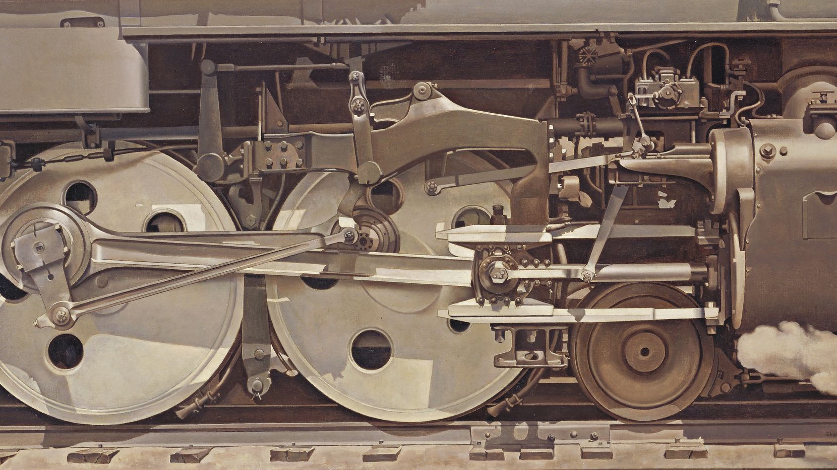 """Charles Sheeler's Rolling Power is part of the Dallas Museum of Art exhibit """"Cult of the Machine: Precisionism and American Art."""""""