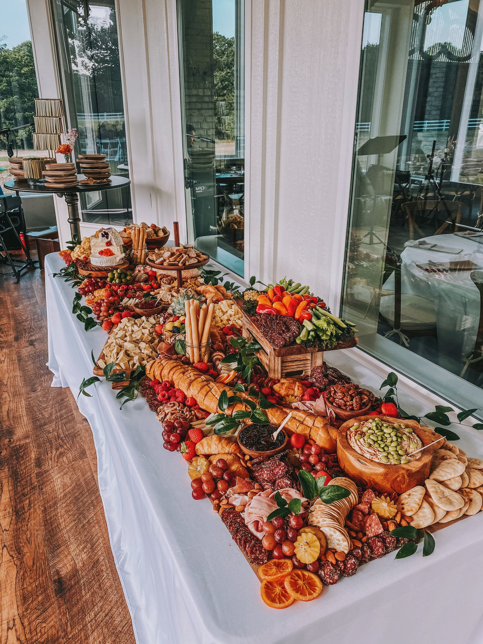 """A """"grazing table"""" from YaYaYum Boards, a Grapevine business selling charcuterie, dessert and themed snacking boards."""