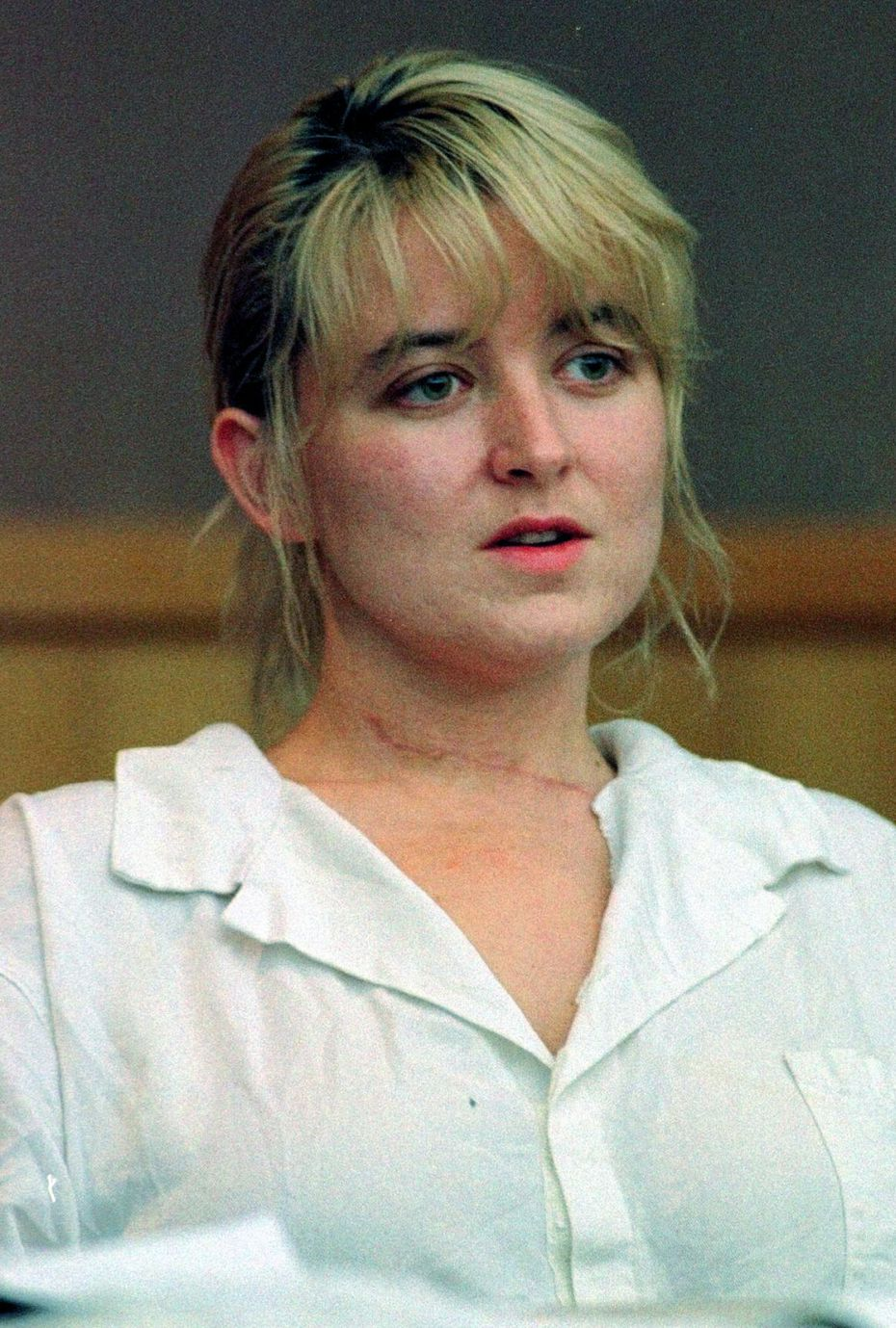 In this June 1996 photo, Darlie Routier sits during an examination of evidence hearing in a Dallas courtroom. Routier is on death row for the slaying of her 5-year-old son, Damon. She was convicted in 1997.