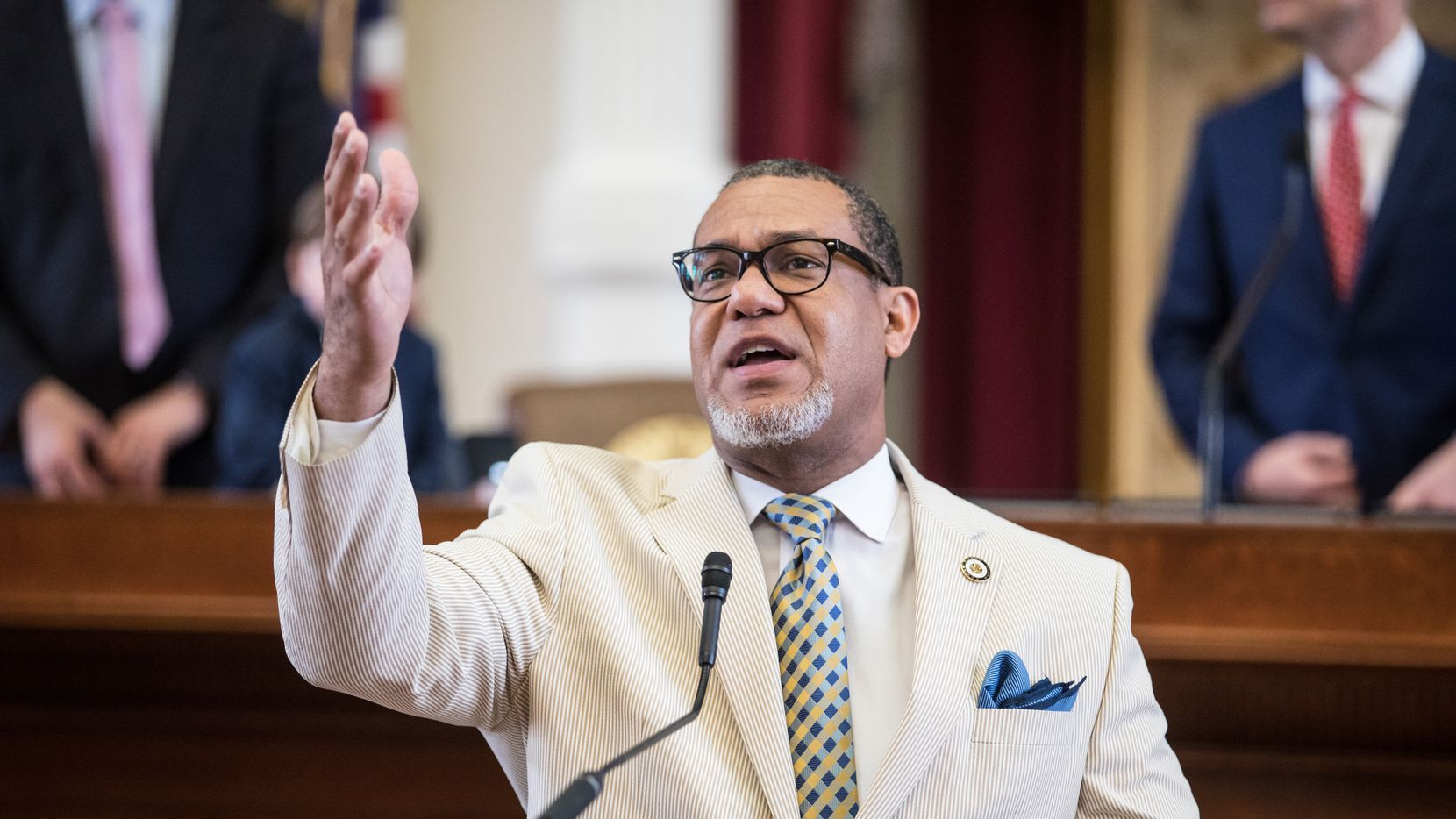 State Rep. Jarvis Johnson, D-Houston, shown here in 2019, is co-author of a bill that would crack down on the use of investigative hypnosis in criminal trials. The legislation passed the Texas House unanimously on Friday, April 30, 2021.