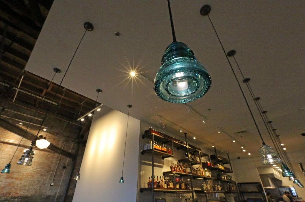 One of the unique light fixtures at the new restaurant, Filament, at 2626 Main Street in Deep Ellum in Dallas, photographed on Tuesday, December 1, 2015. (Louis DeLuca/The Dallas Morning News)