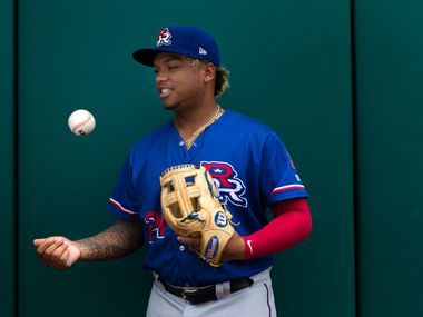 Former Round Rock Express left fielder Willie Calhoun poses for a portrait at the Oklahoma City Dodgers' Chickasaw Bricktown Ballpark on Sunday, August 13, 2017 in Oklahoma City, Oklahoma.