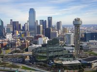 Aerial view of the downtown skyline on Sunday, Jan. 12, 2020, in Dallas.