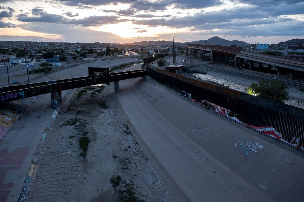 A view of the Rio Grande as seen from Juarez along the U.S.-Mexico border on Wednesday, July 31, 2019.