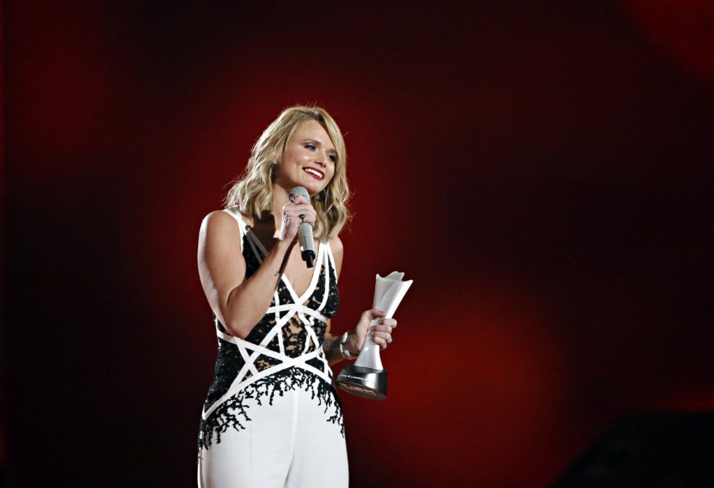 Miranda Lambert wins Female Vocalist of the Year during the 2015 Academy of Country Music Awards Sunday, April 19, 2015 at AT&T Stadium in Arlington, Texas.