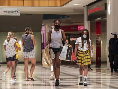 Shoppers at Galleria Dallas last month as the delta variant accelerated in August.