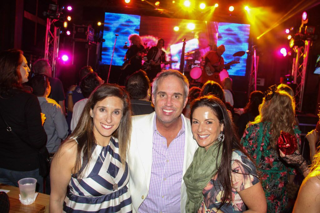 Jamie Singer, Darin Kuhns and Paige Westhoff attended     the #TBT to the '80s party on Thursday at the Rustic.