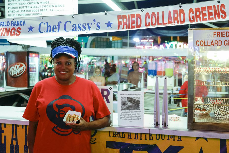Chef Cassy Jones has become well known for her fried collard greens at the State Fair of Texas.
