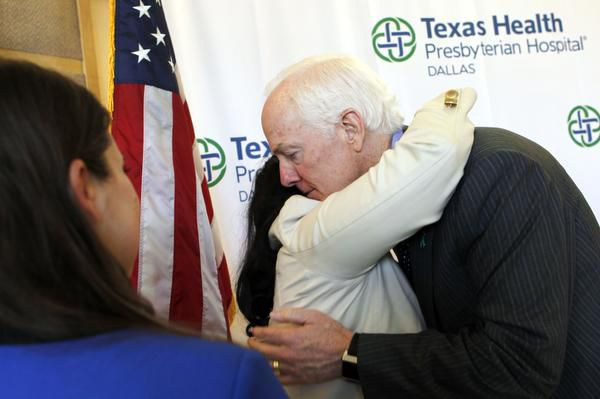 Sen. John Cornyn on Tuesday embraced rape survivor Lavinia Masters, who discussed the attack she suffered at her West Dallas home at age 13.