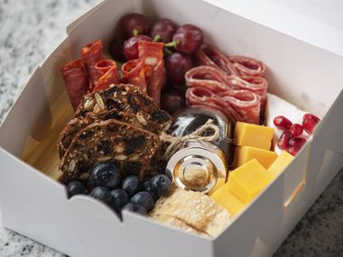 A Me + 1 charcuterie box from Boxed Bites Dallas