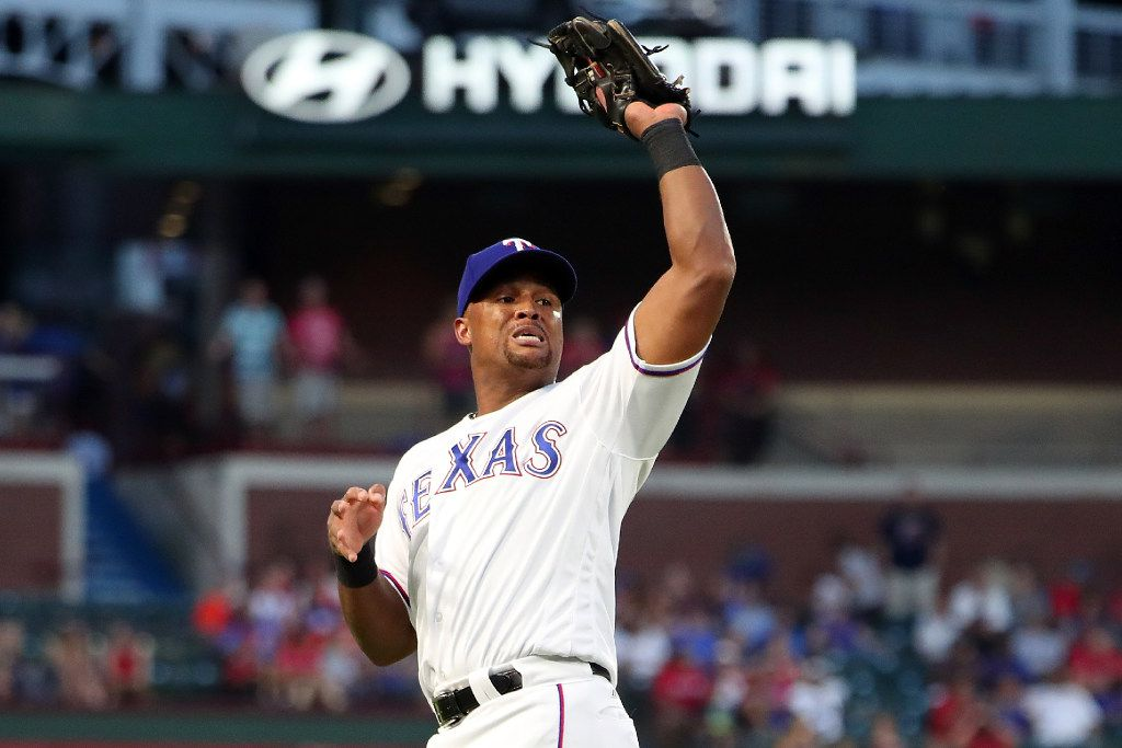 ARLINGTON, TX - JUNE 06:  Adrian Beltre #29 of the Texas Rangers fields a fly ball aganst the New York Mets in the top of the fourth innin at Globe Life Park in Arlington on June 6, 2017 in Arlington, Texas.  (Photo by Tom Pennington/Getty Images)