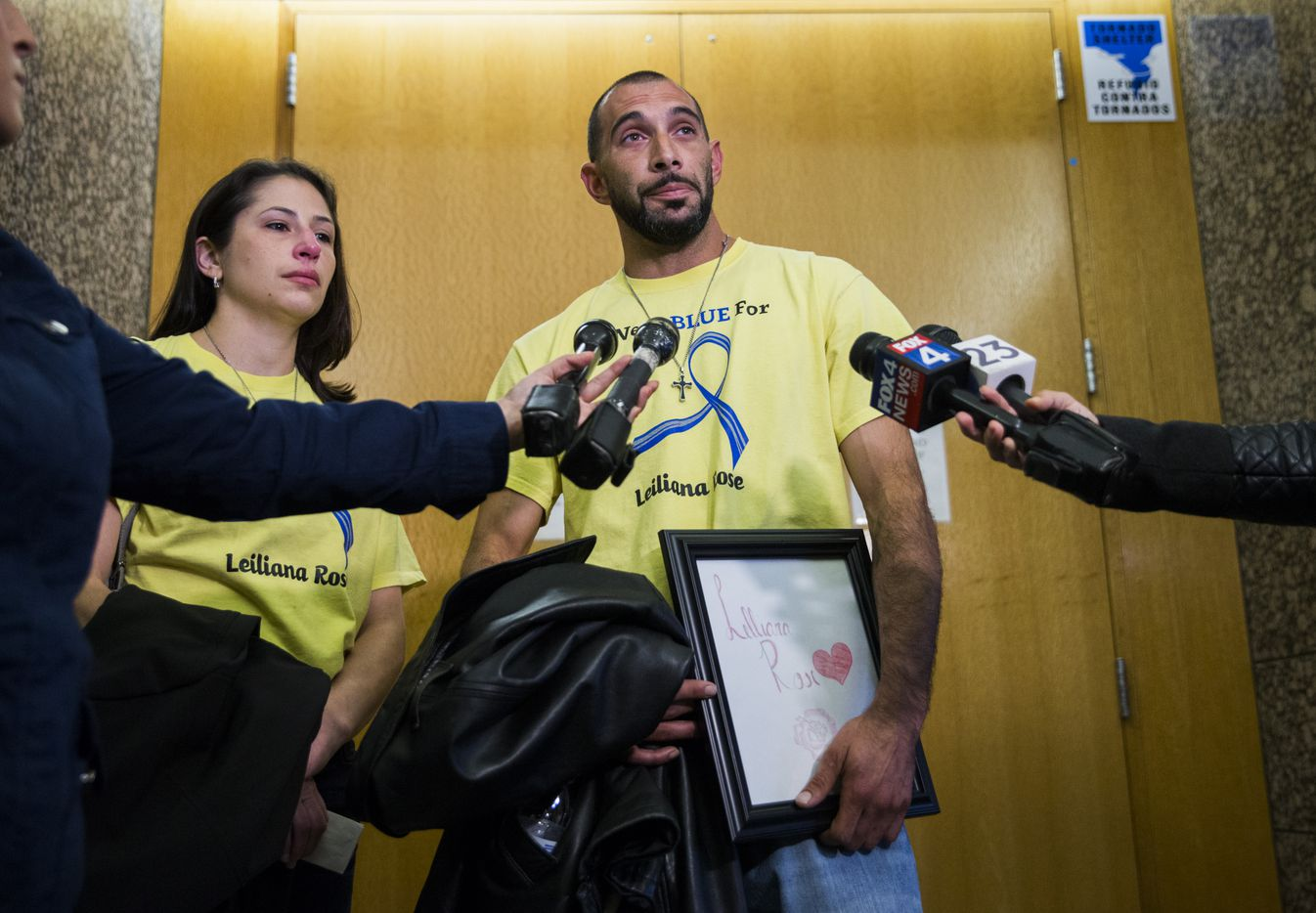 Brian Maker, father of Leiliana Wright, and his sister Gina Clement spoke to reporters after Charles Phifer was found guilty Monday of capital murder in the 4-year-old's March 2016 beating death.
