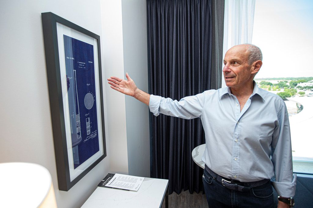 Jonathan Tisch, CEO of Loews Hotels, gives a tour of a king sized bed guest room at Live! by Loews Hotel in Arlington Wednesday, August 21, 2019.