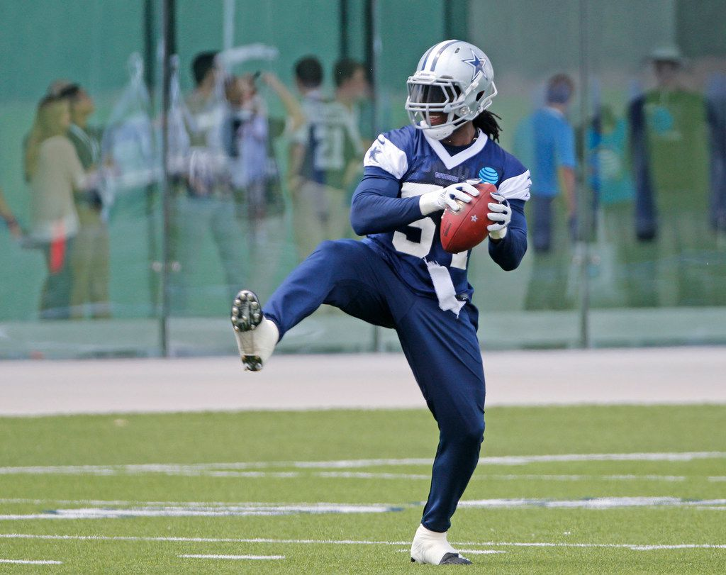 Dallas Cowboys linebacker Jaylon Smith (54) is pictured during Dallas Cowboys OTA football practice at the Star in Frisco on Wednesday, May 23, 2018. (Louis DeLuca/The Dallas Morning News)