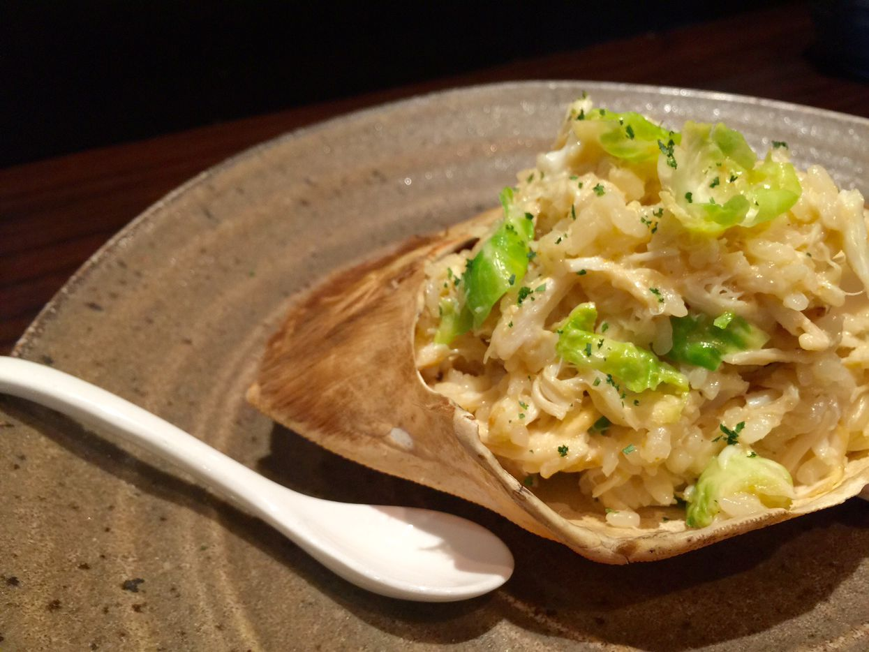 Crab and uni risotto, a special at Tei-An