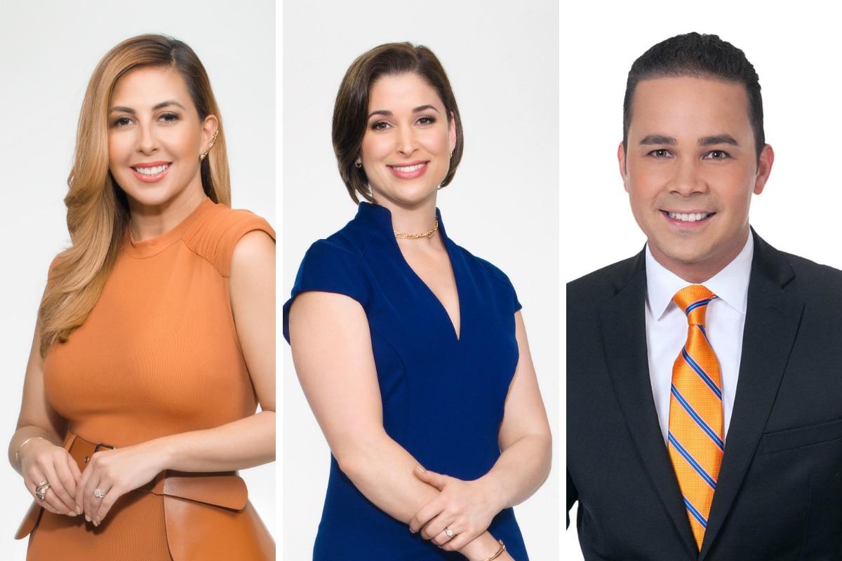Stephanie Himonidis, Arantxa Loizaga y Carlos Robles son parte del nuevo programa de noticias mañanero de Telemundo.