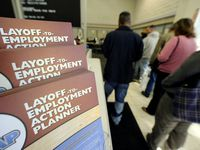 Applications for unemployment aid fell 40,000 from the previous week, the U.S. Labor Department said Thursday.