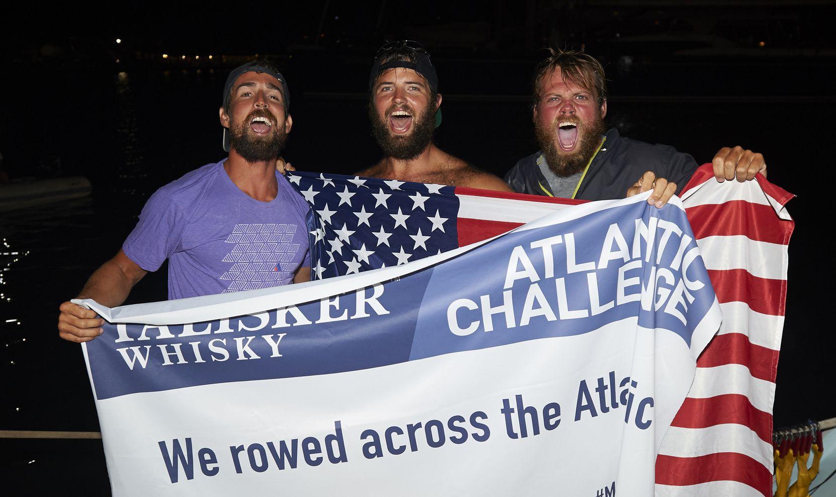 The team celebrates back on shore. (Ben Duffy)