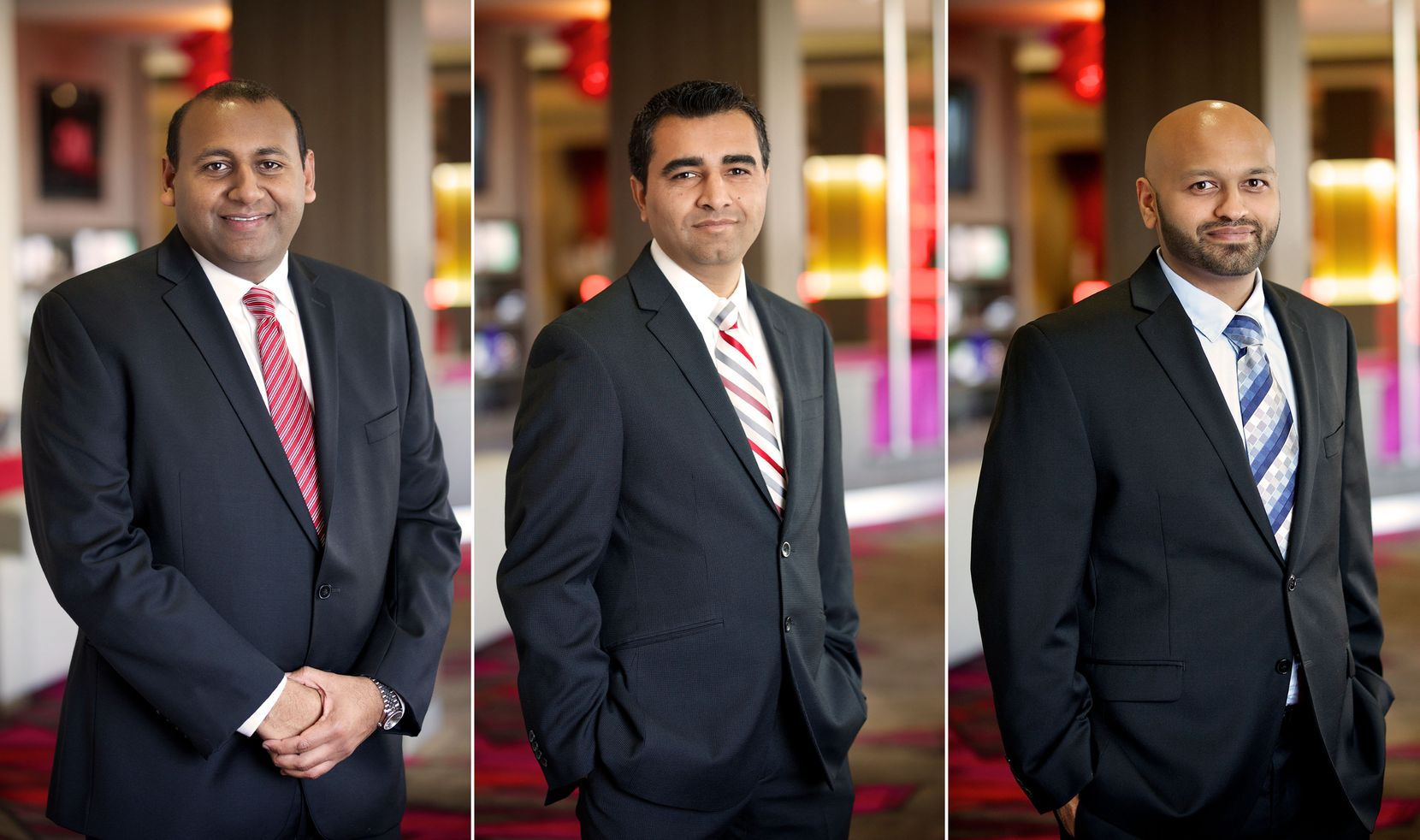 From left: Mehul Patel, Chirag Patel and Mital Patel