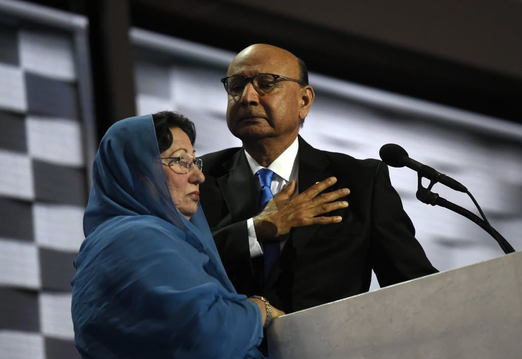Ghazala and Khizr Khan's son was an Army captain who died in Iraq in 2004 while protecting his troops from a car bomb. Khizr Khan spoke at the Democratic National Convention last year and offered a strong rebuke of then-GOP nominee Donald Trump's call for a Muslim ban. (2016 File Photo/The Washington Post)