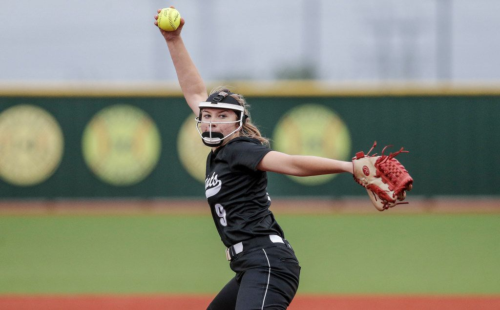 Denton Guyer starting pitcher Ranci Willis throws during the first inning of a one-game Class 6A Region I quarterfinal softball game against Eaton at Eaton High School in Haslet, Friday, May 10, 2019.