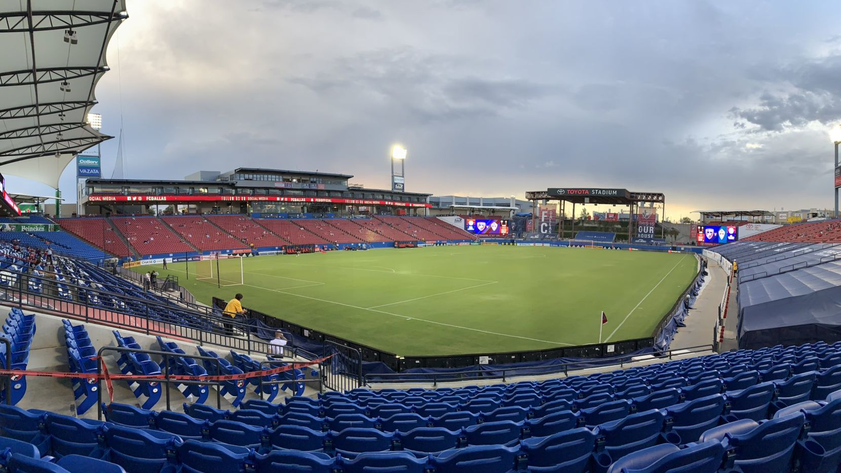 FC Dallas postponed its game against Colorado Rapids on Wednesday, Aug. 26 2020 at Toyota Stadium in Frisco, Texas.
