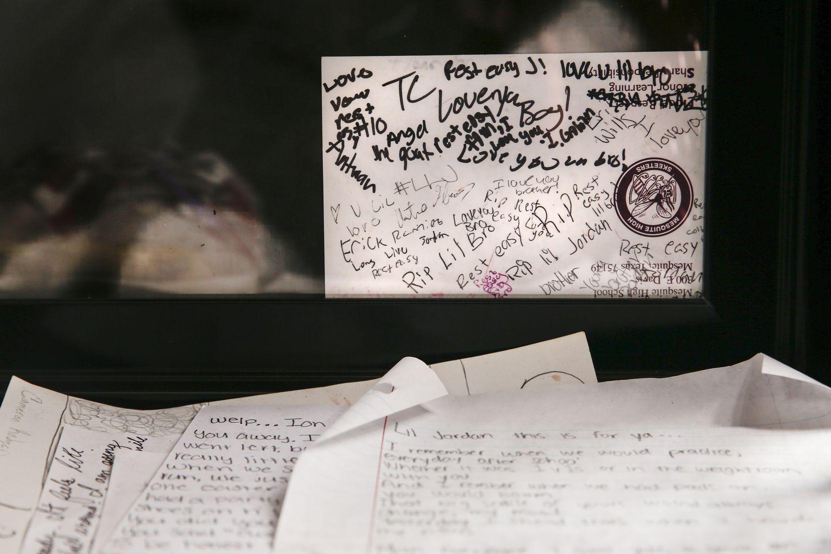 The locker of former Mesquite football player Jordan Edwards is seen on Thursday, Oct. 31, 2019 in Mesquite, Texas.