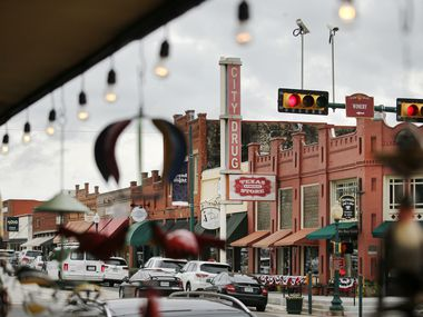 A view of historic downtown Grapevine, Texas, from Grapevine's Market on Main, Tuesday, June 23, 2020.