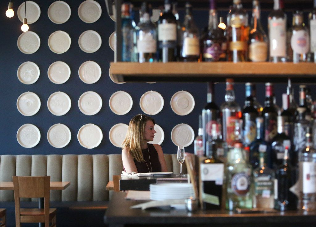 Bar area at Piattello Italian Kitchen in Fort Worth, Texas on Wednesday, May 17, 2017. (Rose Baca/The Dallas Morning News)